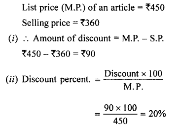 Selina Concise Mathematics class 7 ICSE Solutions - Profit, Loss and Discount-c4