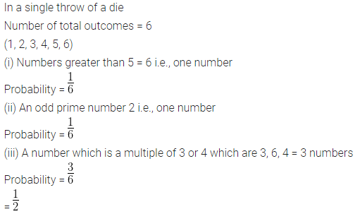 ML Aggarwal Class 10 Solutions for ICSE Maths Chapter 24 Probability