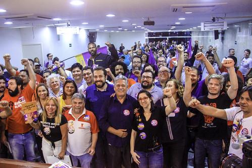 Dirigentes Sindicais e Lutadores Sociais com Boulos e Sonia