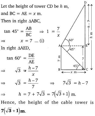 NCERT Solutions for Class 10 Maths Chapter 9 Some Applications of Trigonometry 18