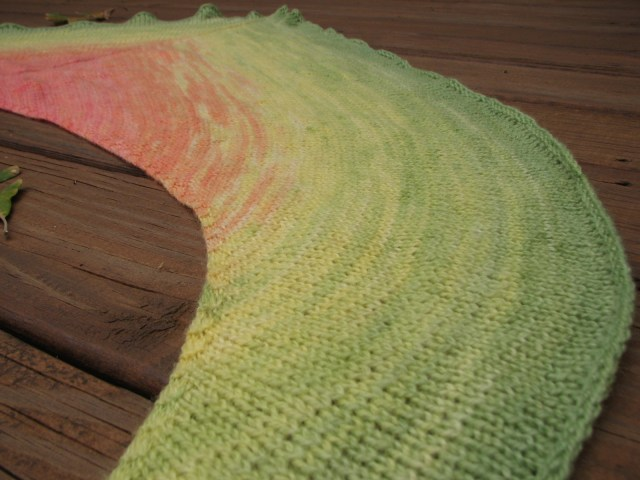 Hibiscus Shawl - Hand Dyed Blended Gradient - The Painted Tiger