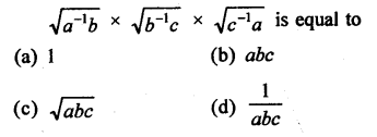 RD Sharma Class 9 Solutions Chapter 2 Exponents of Real Numbers MCQS - 14
