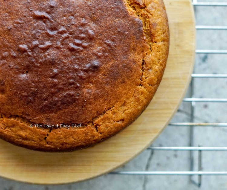 Whole Wheat Jaggery Cake is ready