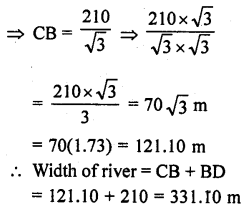 RD Sharma Class 10 Solutions Chapter 12 Heights and Distances Ex 12.1 - 40a