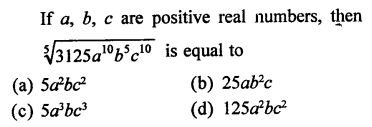 RD Sharma Class 9 Solutions Chapter 2 Exponents of Real Numbers MCQS - 17