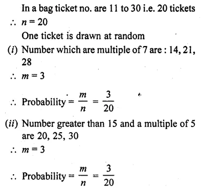 RD Sharma Class 10 Textbook PDF Chapter 13 Probability