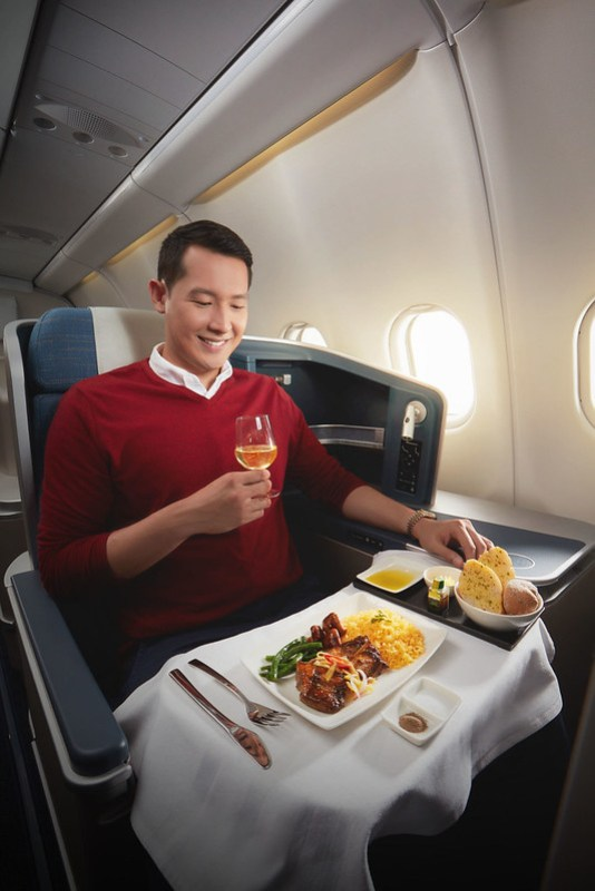 PAL Business Class Full Course Meal