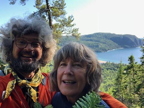 Lake Superior Park Nokomis Trail selfie