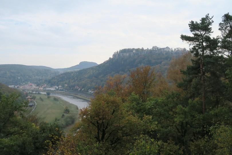 Ein trüber Tag in der Sächsischen Schweiz