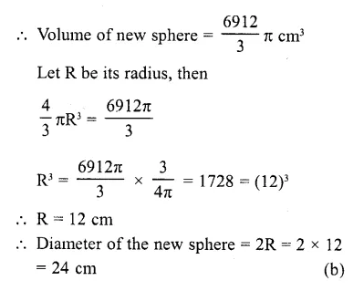 RD Sharma Class 10 Solutions Chapter 14 Surface Areas and Volumes MCQS 21A