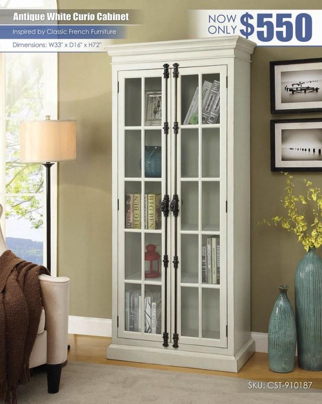 Antique White Curio Cabinet_Coaster_CST-910187