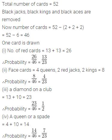 ML Aggarwal Class 10 Solutions for ICSE Maths Chapter 24 Probability Chapter Test 15