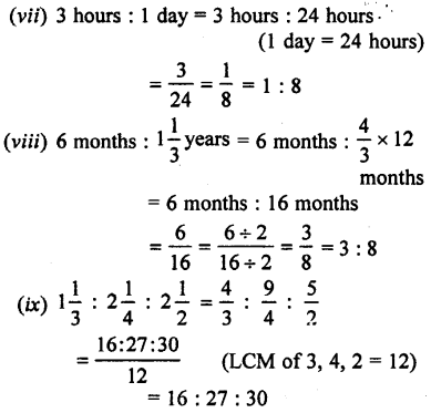 Selina Concise Mathematics class 7 ICSE Solutions - Ratio and Proportion (Including Sharing in a Ratio) -a1.....