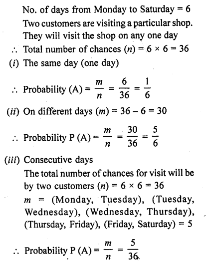 RD Sharma 10 Chapter 13 Probability