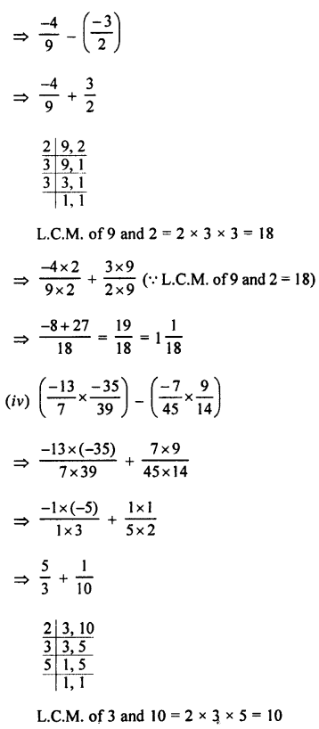 Selina Concise Mathematics class 7 ICSE Solutions - Rational Numbers-e8...........