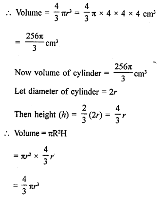 RD Sharma Class 9 Solutions Chapter 21 Surface Areas and Volume of a Sphere Ex 21.2 11