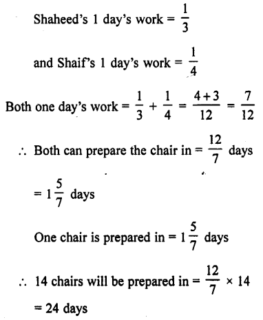 Selina Concise Mathematics class 7 ICSE Solutions - Unitary Method (Including Time and Work)-c10