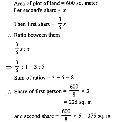 Selina Concise Mathematics class 7 ICSE Solutions - Ratio and Proportion (Including Sharing in a Ratio) -a16