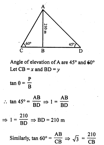 RD Sharma Class 10 Solutions Chapter 12 Heights and Distances Ex 12.1 - 40