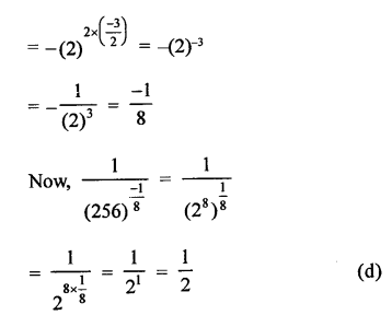 RD Sharma Class 9 Solutions Chapter 2 Exponents of Real Numbers