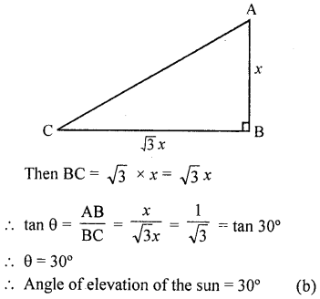 RD Sharma Class 10 Solutions Chapter 12 Heights and Distances MCQS - 21