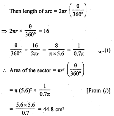 RD Sharma Class 10 Solutions Chapter 13 Areas Related to Circles Ex 13.2 - 13