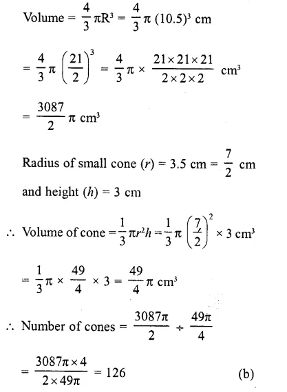 RD Sharma Class 10 Solutions Chapter 14 Surface Areas and Volumes MCQS 2