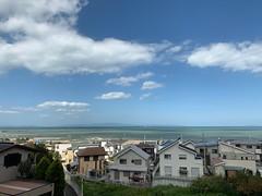 台風一過の空と海
