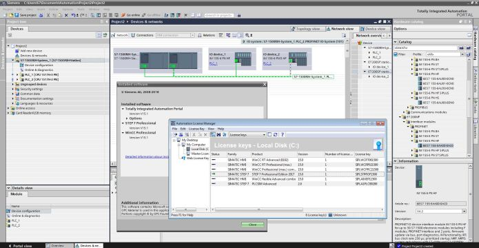 Working with Siemens Simatic TIA Portal v15.1 full license
