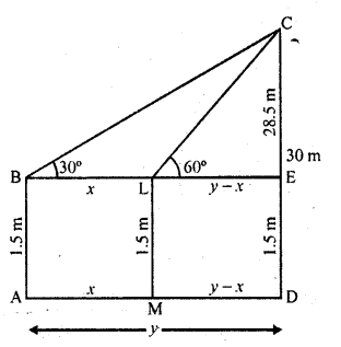 RD Sharma Class 10 Solutions Chapter 12 Heights and Distances Ex 12.1 - 22