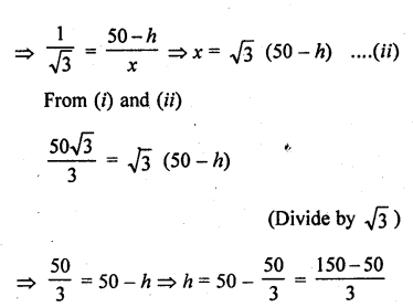 RD Sharma Class 10 Solutions Chapter 12 Heights and Distances Ex 12.1 - 62a