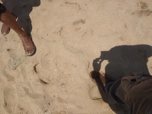 model pasir di pantai drini