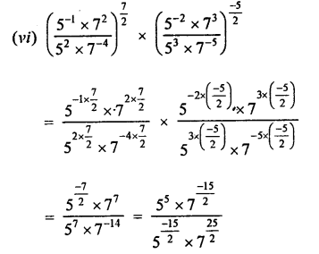 RD Sharma Class 9 Solutions Chapter 2 Exponents of Real Numbers Ex 2.2 - 2aa.