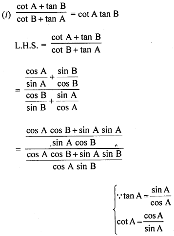 RD Sharma Class 10 Solutions Chapter 11 Trigonometric Identities Ex 11.1 - 55a