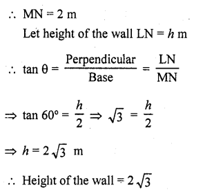 RD Sharma Class 10 Solutions Chapter 12 Heights and Distances Ex 12.1 - 3a