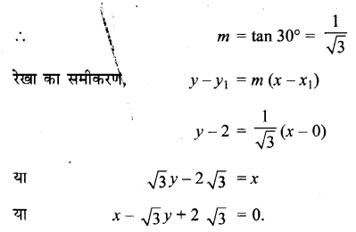 UP Board Solutions for Class 11 Maths Chapter 10 Straight Lines 10.2 6