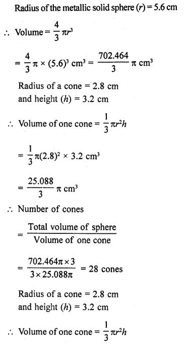 RD Sharma Class 10 Solutions Chapter 14 Surface Areas and Volumes Ex 14.1 22