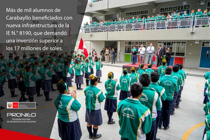 Nueva infraestructura de la IE N° 8190 en Carabayllo