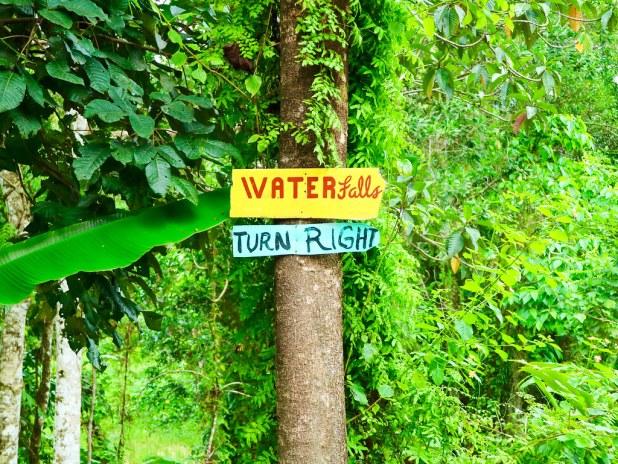 Como llegar a la cascada de Pamuayan