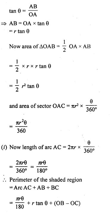 RD Sharma Class 10 Solutions Chapter 13 Areas Related to Circles Ex 13.2 - 26a