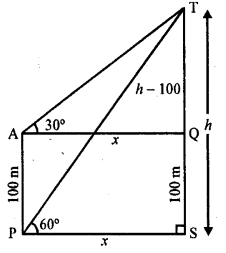 RD Sharma Class 10 Solutions Chapter 12 Heights and Distances Ex 12.1 - 51