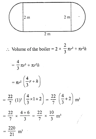 RD Sharma Class 10 Solutions Chapter 14 Surface Areas and Volumes Ex 14.2 12