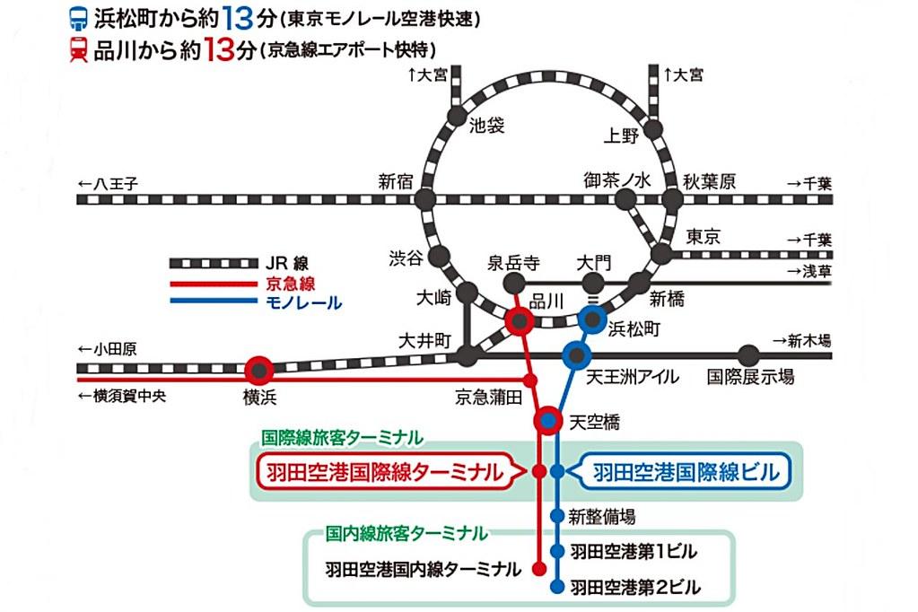 haneda-airport map