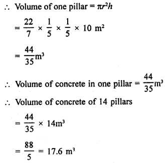 RD Sharma Class 9 Solution Chapter 19 Surface Areas and Volume of a Circular Cylinder