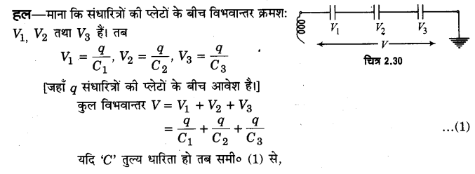 UP Board Solutions for Class 12 Physics Chapter 2 Electrostatic Potential and Capacitance SAQ 11