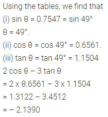 ML Aggarwal Class 10 Solutions for ICSE Maths Chapter 20 Trigonometric Tables Chapter Test 5