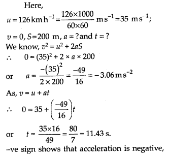 NCERT Solutions for Class 11 Physics Chapter 3 Motion in a