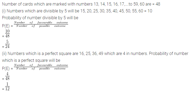 ML Aggarwal Class 10 Solutions for ICSE Maths Chapter 24 Probability Chapter Test 10