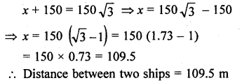 RD Sharma Class 10 Solutions Chapter 12 Heights and Distances Ex 12.1 - 50a