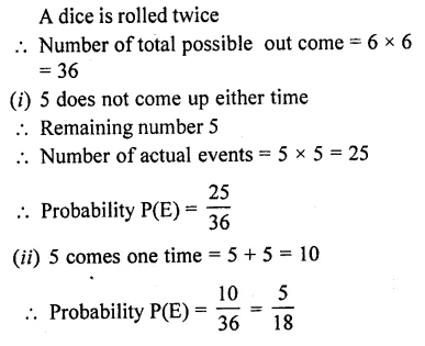 RD Sharma Mathematics Class 10 Pdf Download Free Chapter 13 Probability